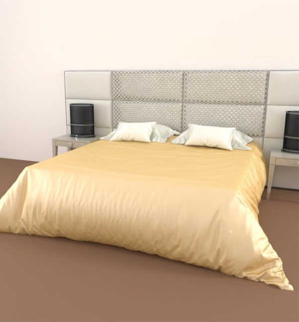 silk duvet cover champagne - Lessinly