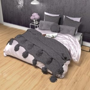 silk duvet cover mauve - Lessinly