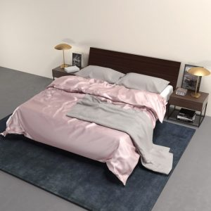 silk duvet cover misty rose - Lessinly