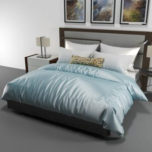 silk duvet cover powder blue - Lessinly
