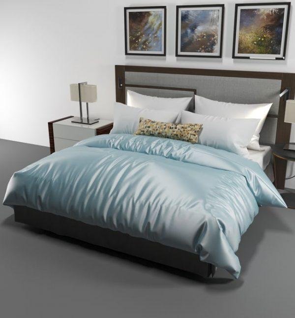 silk duvet cover powder blue - Lessinly