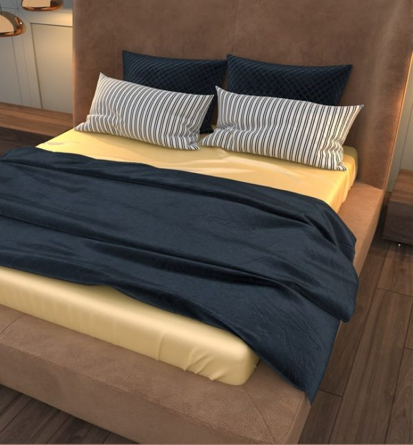 silk flat sheet champagne - Lessinly