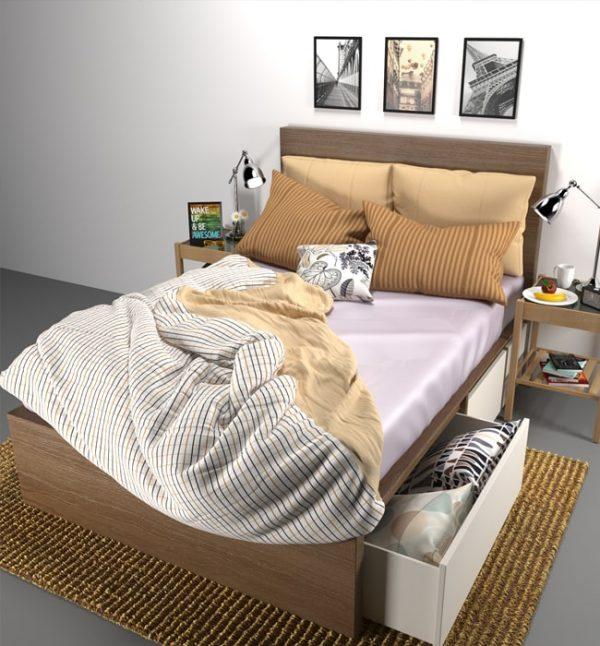 silk flat sheet mauve - Lessinly