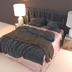 silk flat sheet misty rose - Lessinly