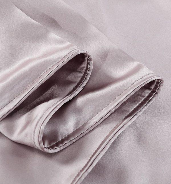 Lessinly silk duvet cover - Lavender Gray