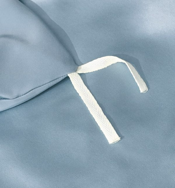 Lessinly silk duvet cover - Powder Blue