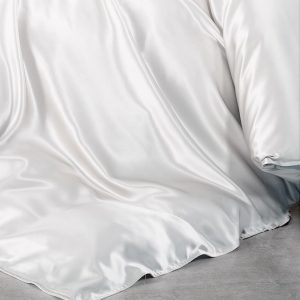 Lessinly silk duvet cover - White