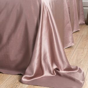 Lessinly silk flat bed sheet - Mauve