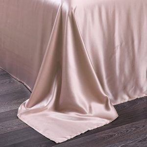 Lessinly silk flat bed sheet - Misty Rose