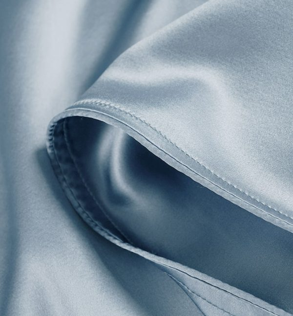 Lessinly silk flat bed sheet - Powder Blue