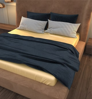 Lessinly champagne silk bed sheet